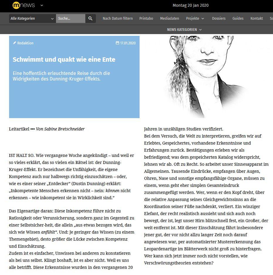 Schwimmt und quakt wie eine Ente - Leitartikel von Sabine Bretschneider (mnews/medianet.at)